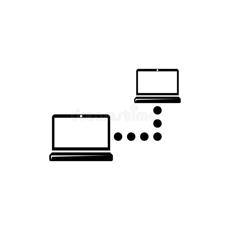 Local Computer Network, Lan Connect Flat Vector Icon. Local Computer Network, Lan Connect . Flat Vector Icon illustration. Simple black symbol on white vector illustration