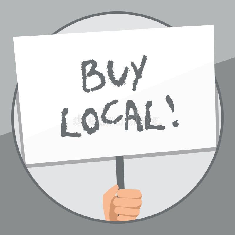 Local da compra do texto da escrita da palavra Conceito do neg?cio para o produtos e servi?os de produ??o local da compra sobre a ilustração stock