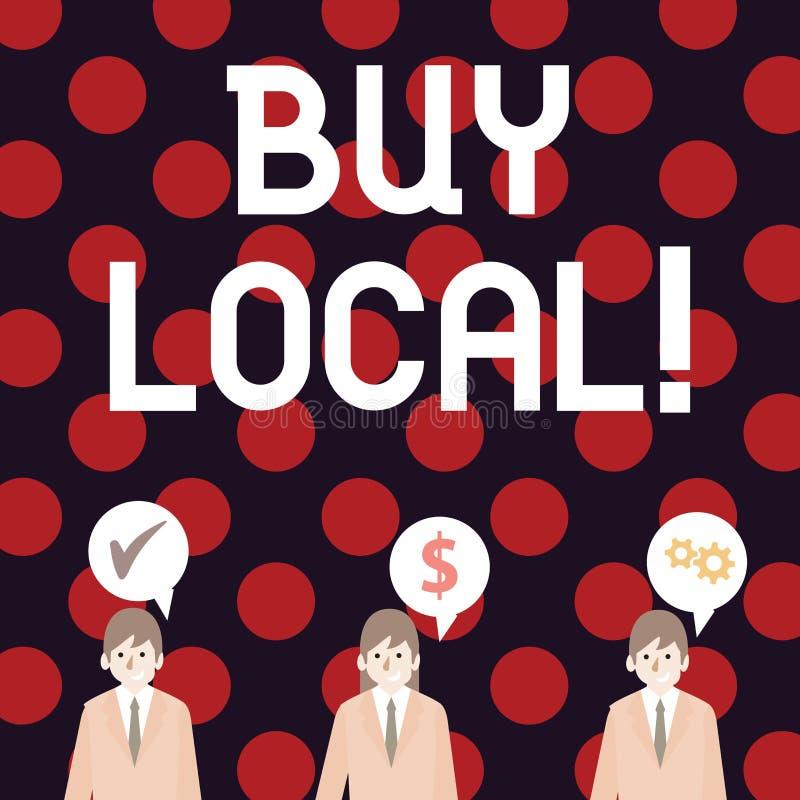 Local da compra da escrita do texto da escrita Produtos e serviços de produção local da compra do significado do conceito sobre m ilustração royalty free