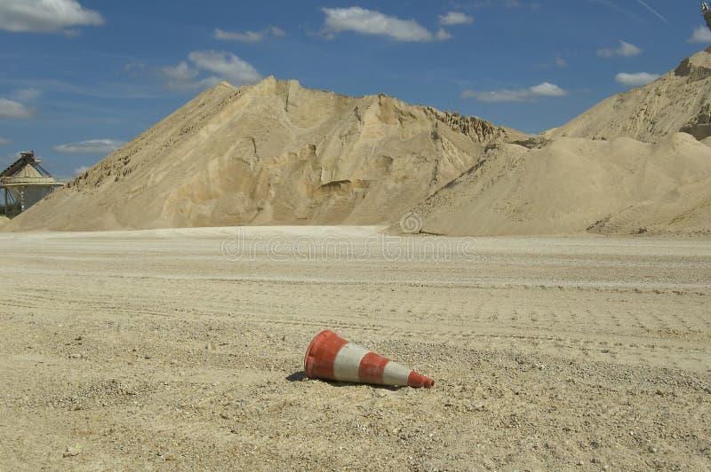 Local da extração da areia fotografia de stock