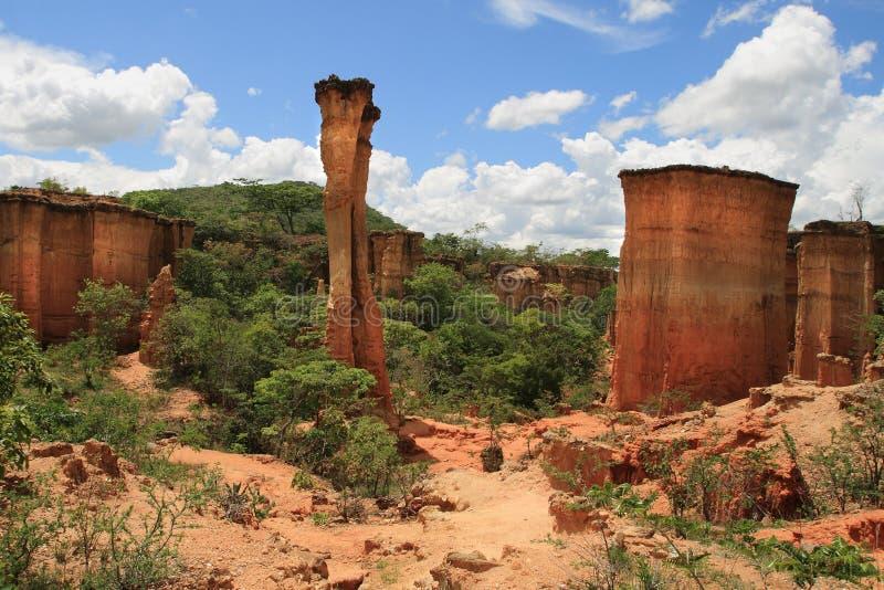 Local da Idade da Pedra de Isimila foto de stock royalty free