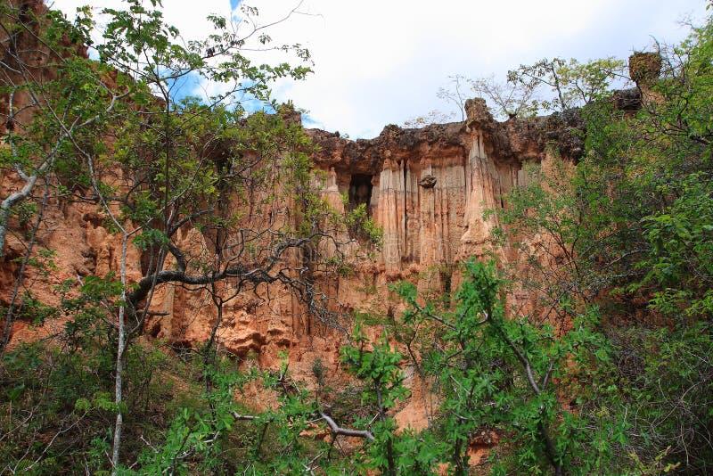Local da Idade da Pedra de Isimila foto de stock