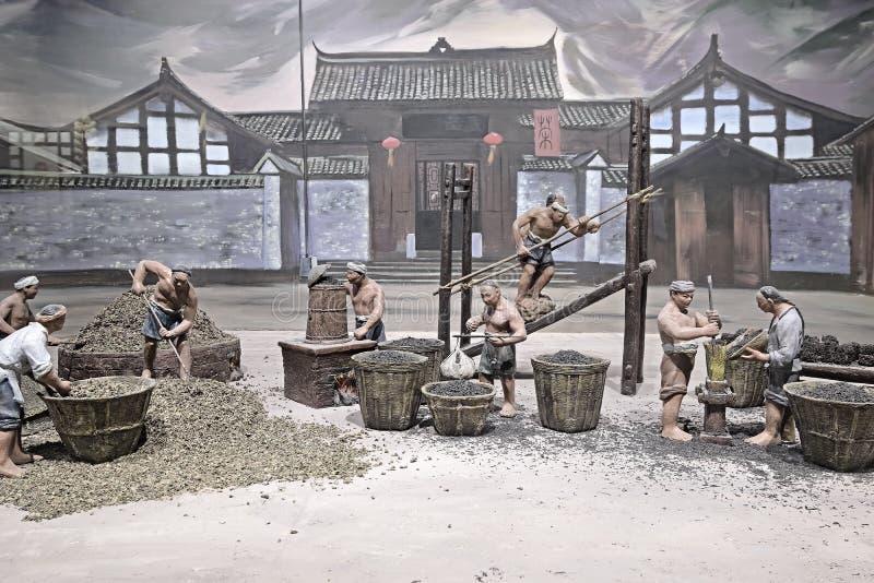 Local da produção do China-chá de Yaan fotografia de stock