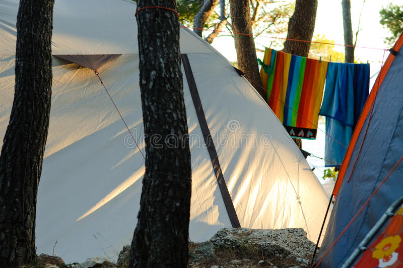 Local de acampamento imagem de stock royalty free