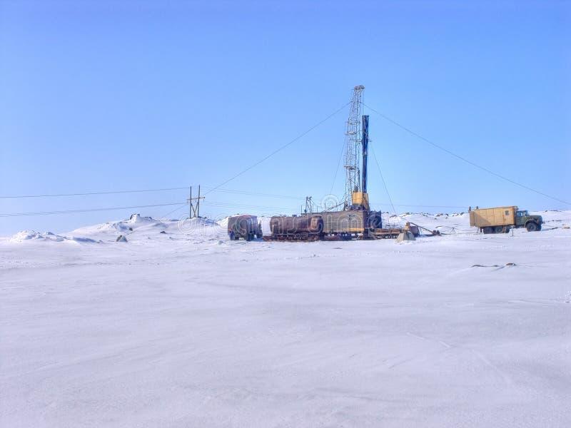 Local de broca no ártico. fotografia de stock royalty free