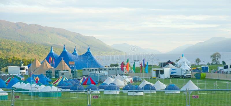 Local de encontro de Rockness em Loch Ness foto de stock