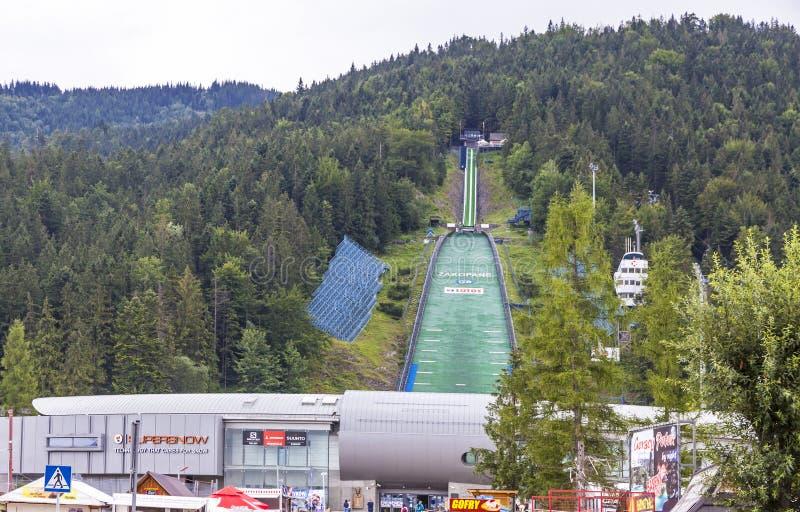 Local de encontro do salto de esqui de Wielka Krokiew em Zakopane, Polônia foto de stock