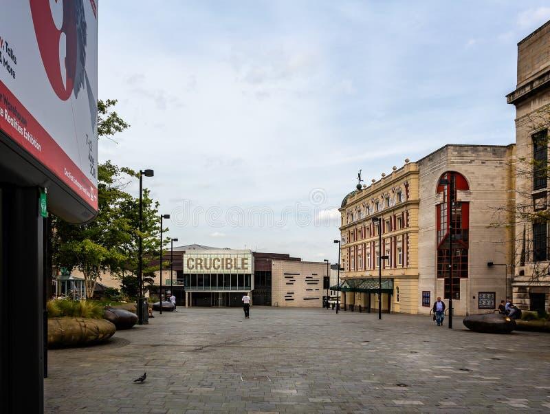 Local de encontro de esportes do cadinho em Sheffield imagem de stock royalty free