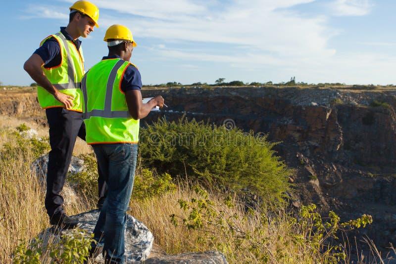 Local de mineração dos topógrafos foto de stock royalty free