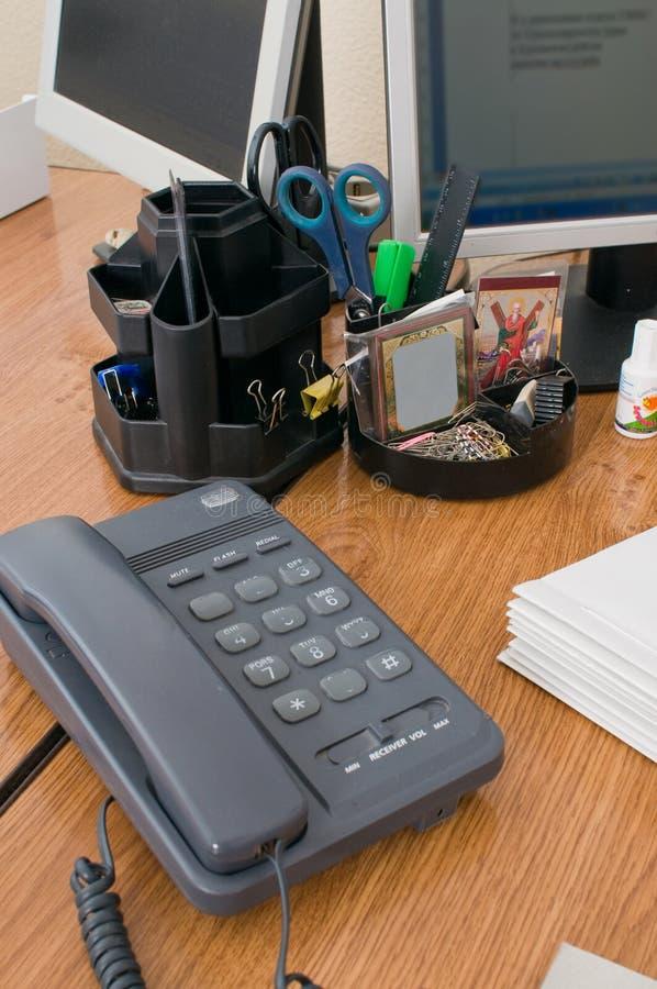 Local de trabalho no escritório 4. imagem de stock