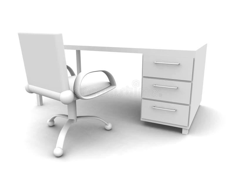 Local de trabalho - parte dianteira ilustração do vetor
