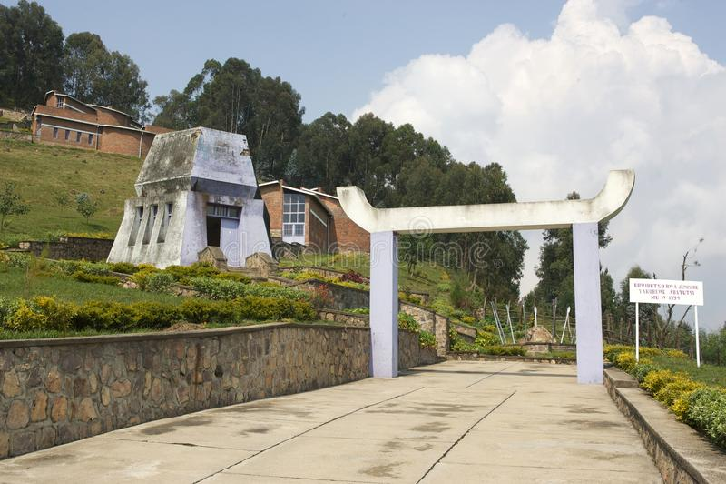 Local do memorial de Bisesero fotos de stock royalty free