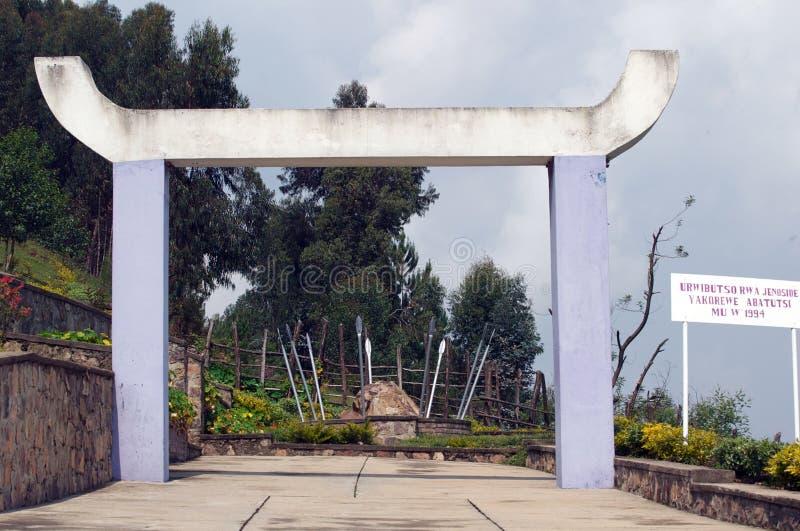 Local do memorial de Bisesero imagem de stock royalty free
