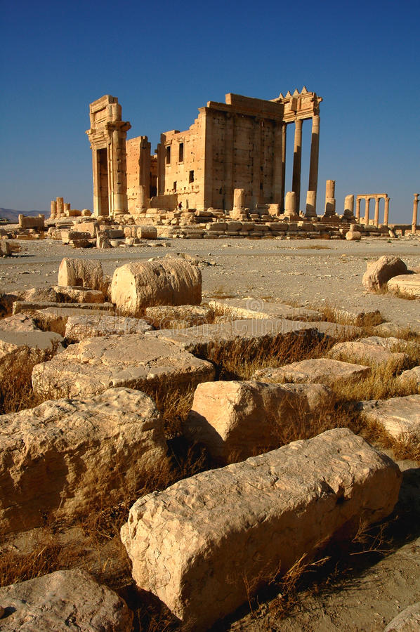 Local do Palmyra Syria imagens de stock