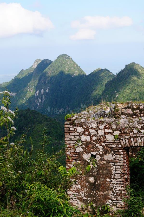 Local do UNESCO do forte de Haiti, Citadelle Laferrière imagem de stock