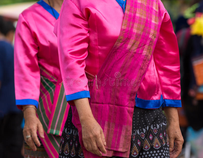Download Local Dress Of Female In Thai Wax Festival. Stock Image - Image of northeastesan, parade: 77008125