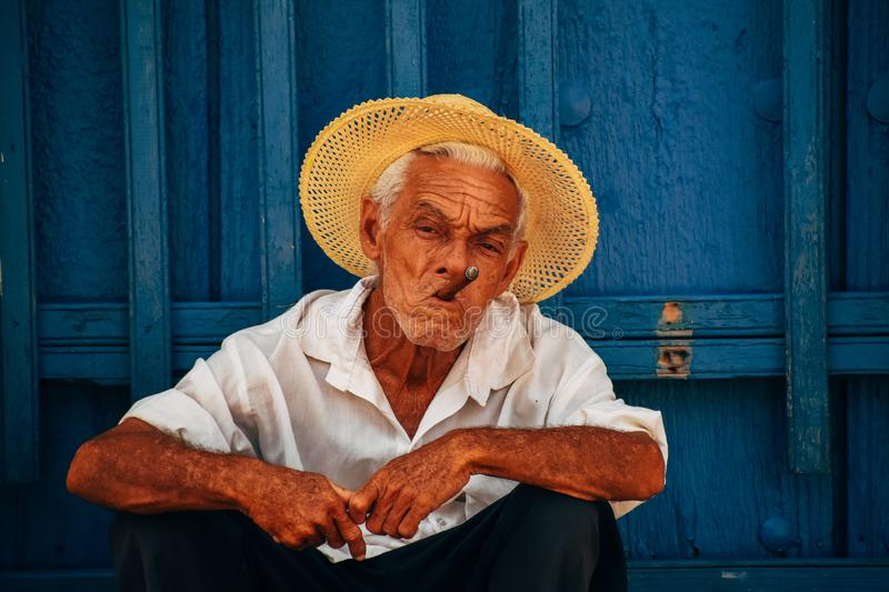 A local posses for the camera in Trinidad, Cuba. royalty free stock photo