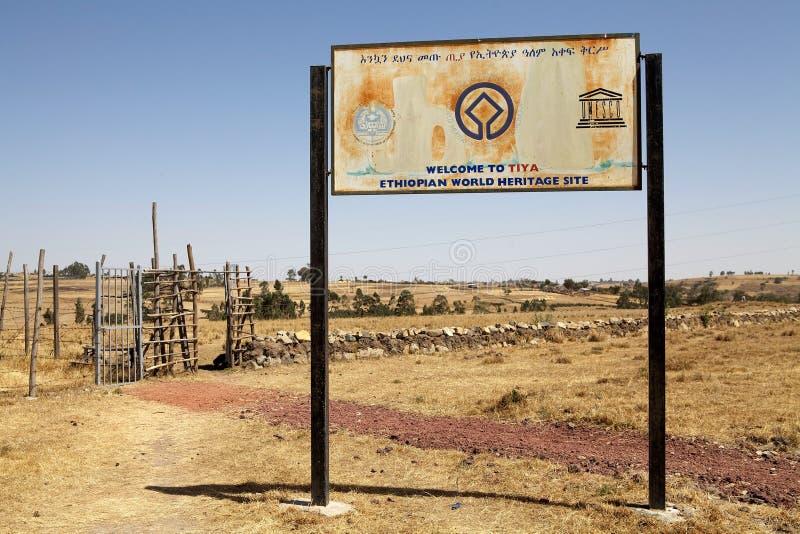 Local etíope de Eritage do mundo de Tiya imagens de stock