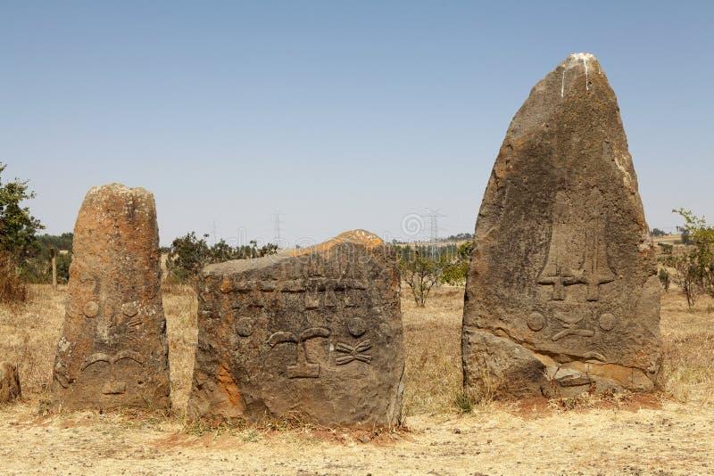 Local etíope do património mundial de Tiya imagem de stock royalty free