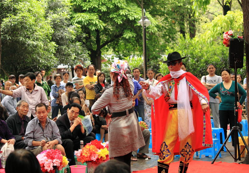 Chinese Fashion show Chengdu China