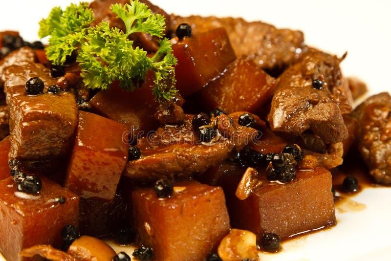 Local Filipino food - Pork Adobo stock photo