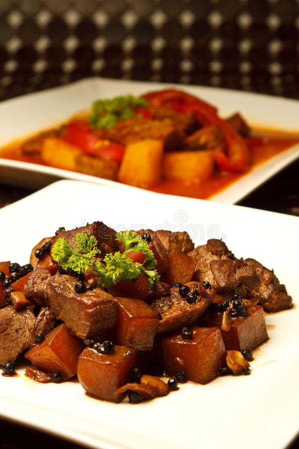 Local filipino food pork adobo pork stew royalty free for Adobo filipino cuisine