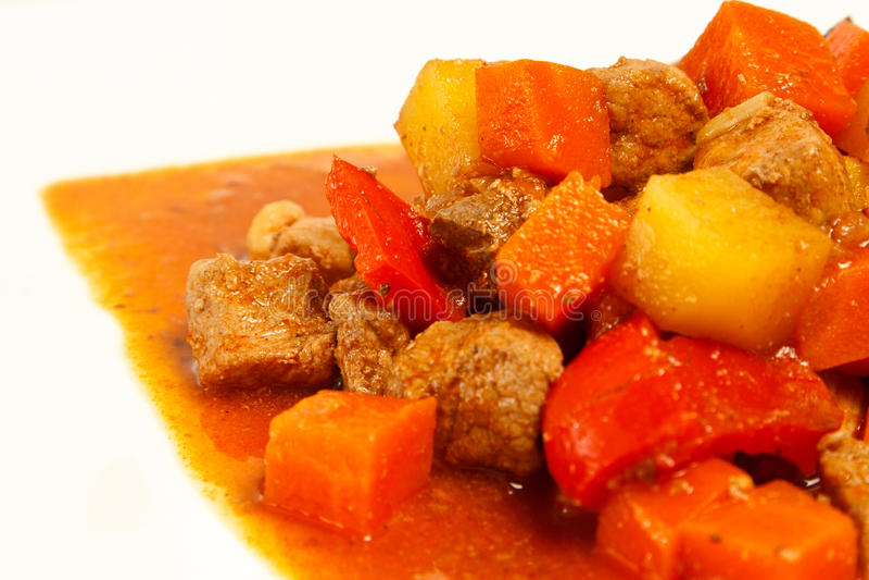 Local Filipino food - Pork Stew stock photo