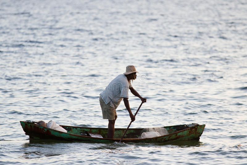 Local fisherman, Belize royalty free stock photography