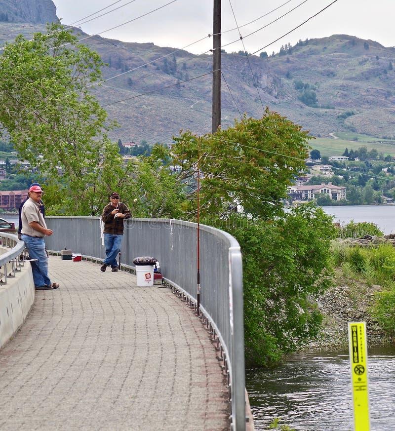 Local Fisherman, Lake Osoyoos, British Columbia, Canada royalty free stock photos