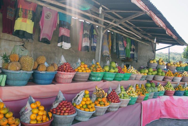 Fruit stall stock image