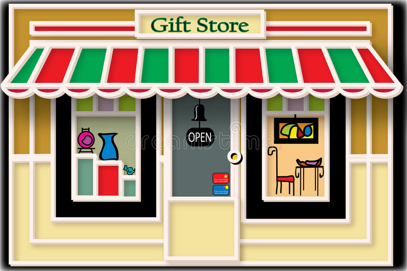 Download Local Gift Store Illustration Stock Vector - Illustration of small, image: 14592681