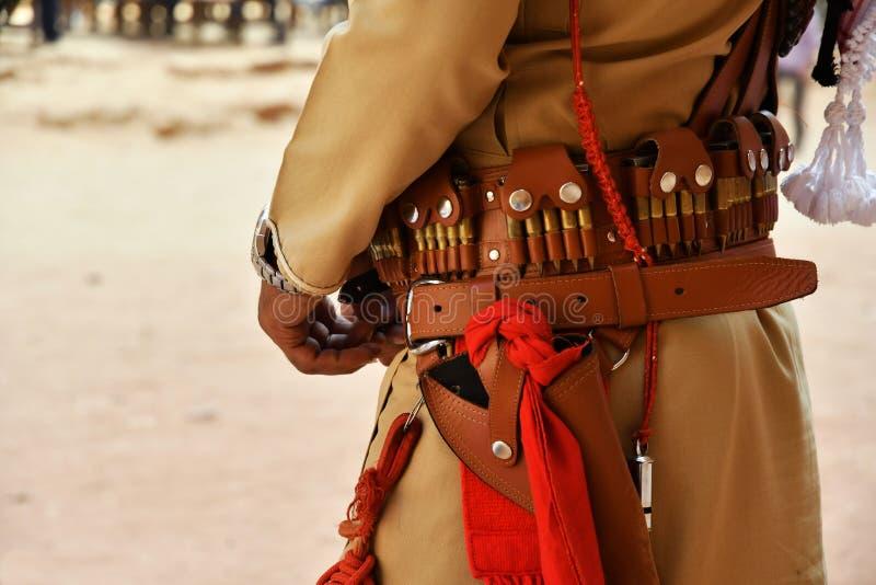Local guard in Petra Jordan royalty free stock photos