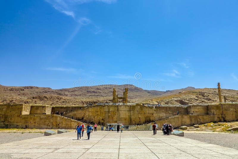 Local histórico 01 de Persepolis fotos de stock royalty free