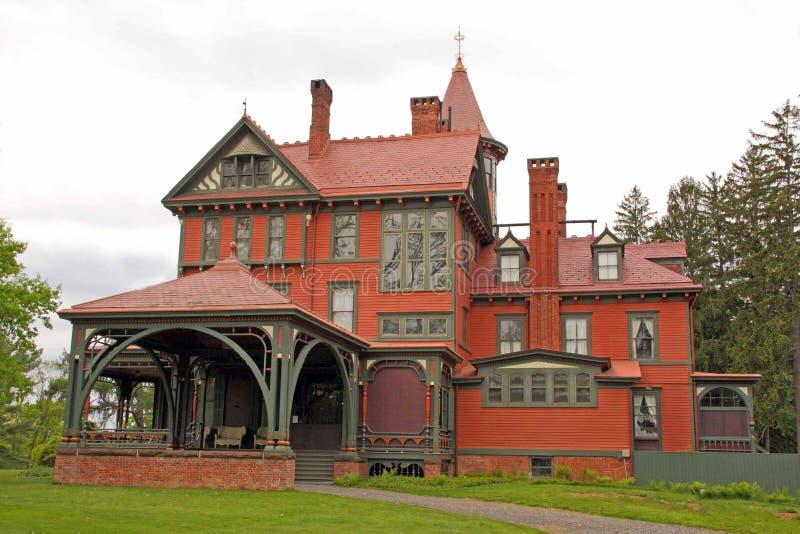 Local histórico de Wilderstein, mansão vitoriano Rhi do estilo 1800's fotos de stock royalty free