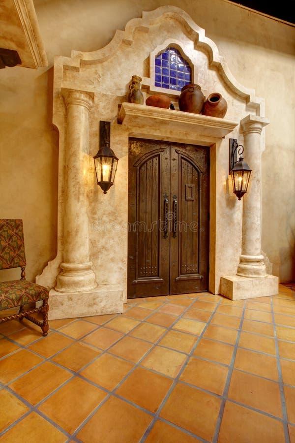 Local histórico do batalhão do mórmon, San Diego Porta de entrada com co imagens de stock
