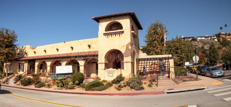 Local histórico do batalhão do mórmon na cidade velha em San Diego fotos de stock royalty free
