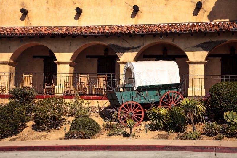 Local histórico do batalhão do mórmon na cidade velha em San Diego imagens de stock
