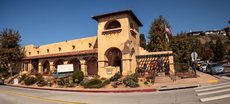 Local histórico do batalhão do mórmon na cidade velha em San Diego imagem de stock