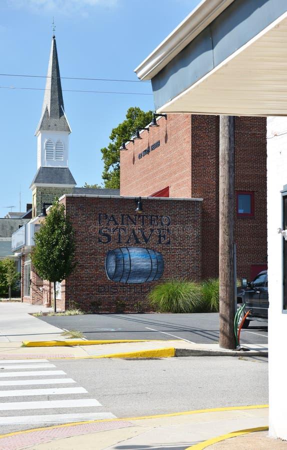 Local histórico dos EUA do estado de Smyrna delaware fotografia de stock royalty free