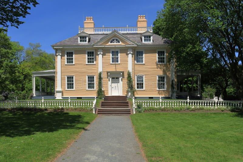 Local histórico nacional das matrizes de Longfellow Casa-Washington em Cambridge imagem de stock