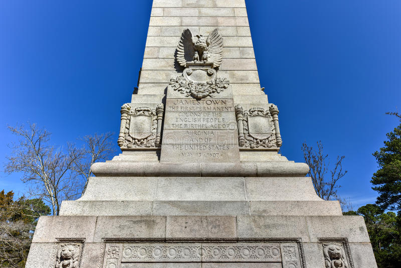 Local histórico nacional de Jamestown imagens de stock royalty free