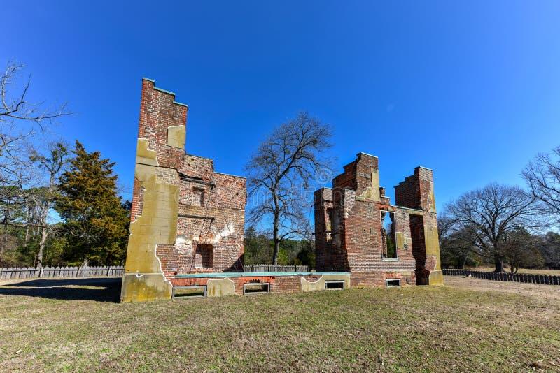 Local histórico nacional de Jamestown fotos de stock