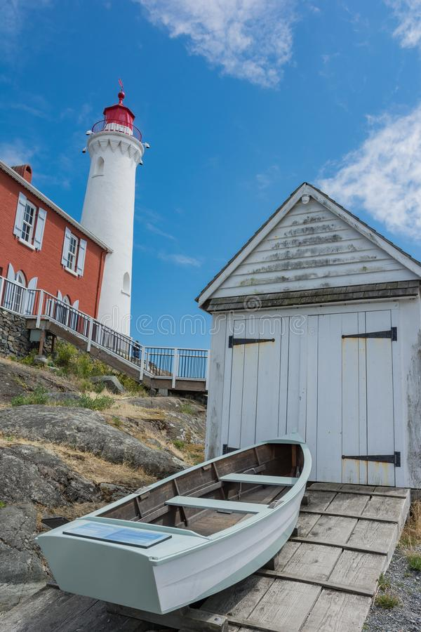 Local histórico nacional do farol de Fisgard, na ilha de Fisgard em imagens de stock royalty free
