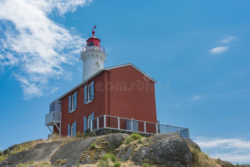 Local histórico nacional do farol de Fisgard, na ilha de Fisgard em fotografia de stock royalty free
