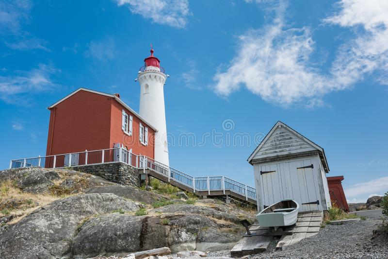 Local histórico nacional do farol de Fisgard, na ilha de Fisgard em foto de stock