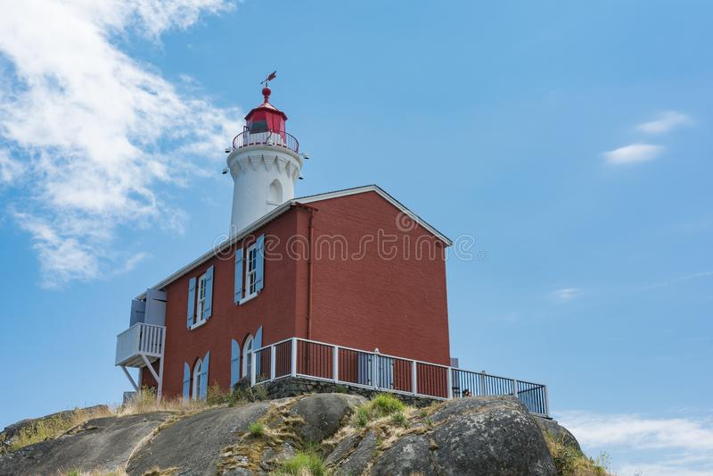 Local histórico nacional do farol de Fisgard, na ilha de Fisgard em fotos de stock