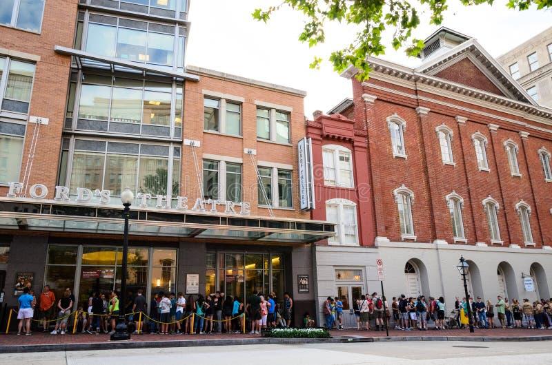 Local histórico nacional do teatro de Ford imagem de stock royalty free