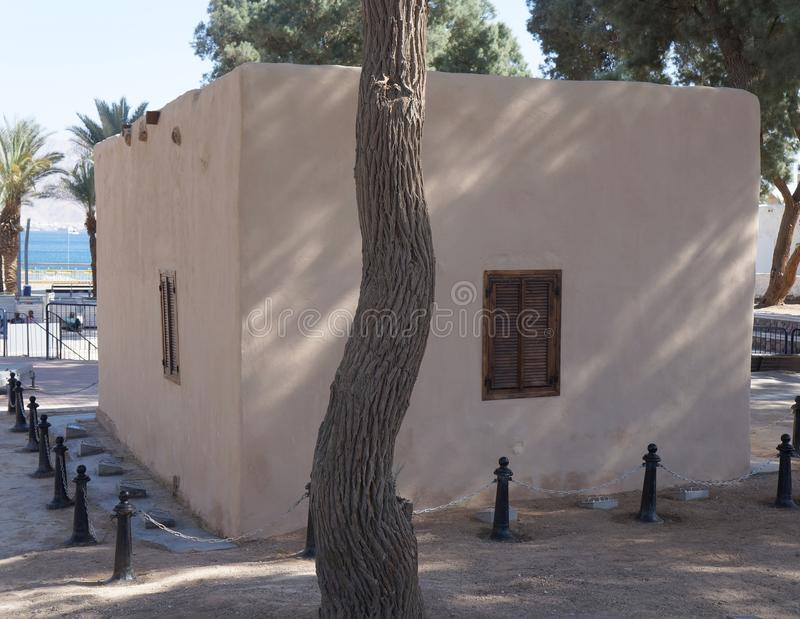 Local histórico Umm Rashrash em Eilat, Israel imagens de stock royalty free