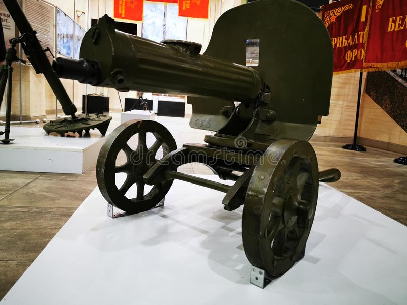 Local history Museum Soviet weapons of 30-40th years of the 20th century. Kaliningrad, Russia - September 10, 2019: Local history Museum Soviet weapons of 30 vector illustration