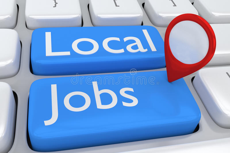 Local Jobs concept stock illustration